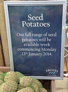 Seed Potato Sign